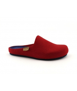 GRUNLAND VEG EURO CB2205 red blue slippers woman recycled vegan shoes