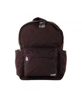 Unisex hemp backpack adjustable padded straps zip closure vegan pockets