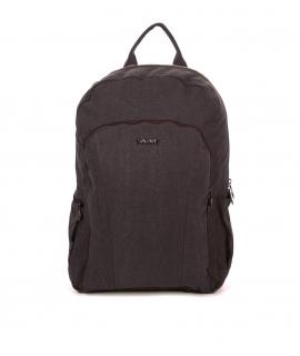Unisex hemp backpack with padded shoulder pads adjustable zip closure vegan pockets