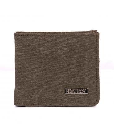 Mens wallet hemp vegan zip compartment card holder