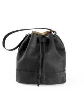 347372b5c4 CORKOR Women s waterproof bucket bag cork shoulder strap closure vegan  strings - VeganShoes.it