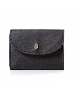 Die Brieftasche für Damen hinterlässt einen wasserdichten veganen Knopfverschluss