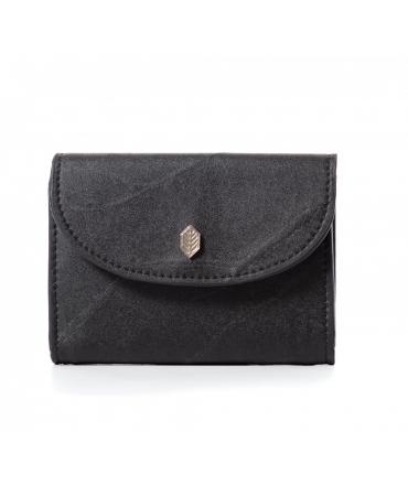 Women's wallet leaves coin purse waterproof vegan button closure