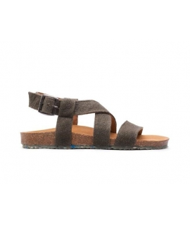 ZOURI Sand Femme Chaussures Sandales Chanvre naturel double bande chaussures vegan