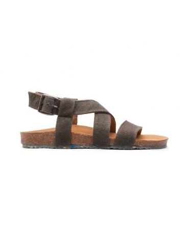 ZOURI Sand Zapatos de mujer Sandalias Zapatos veganos de doble banda de cáñamo natural