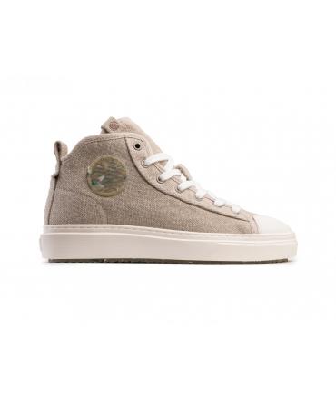 ZOURI Esox Linen shoes Unisex sneakers mid laces vegan shoes