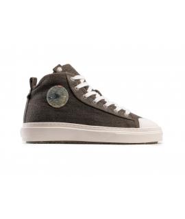 ZOURI Tilapia Hanfschuhe Unisex Sneakers Mid Laces Vegane Schuhe
