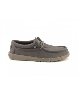 HEY DUDE WALLY Gewaschene Schuhe Herren atmungsaktive Baumwoll-Sneakers Sommer vegane Schuhe