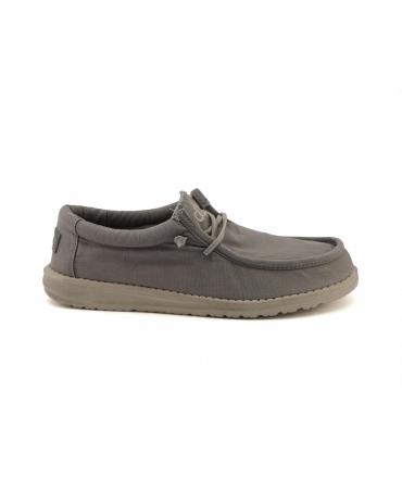 HEY DUDE WALLY Washed Scarpe Uomo sneakers cotone estive traspiranti vegan shoes