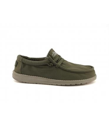 HEY DUDE WALLY Washed Uomo sneakers cotone estive traspiranti vegan shoes
