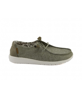HEY DUDE WALLY Chambray Shoes Woman breathable summer sneakers vegan shoes
