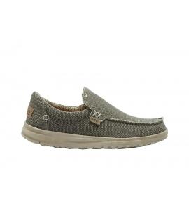 HEY DUDE MIKKA Chaussures tressées Hommes sans lacets sur des baskets d'été respirantes en coton biologique, chaussures végétali