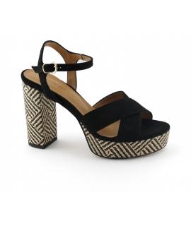 VSI ATENA Chaussures pour femmes Sandales à talons avec boucle à boucle Chaussures végétaliennes Fabriqué en Italie