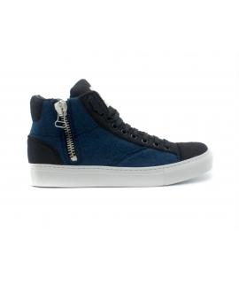 NAE Milan PET scarpe Unisex sneakers mid lacci zip waterproof vegan shoes