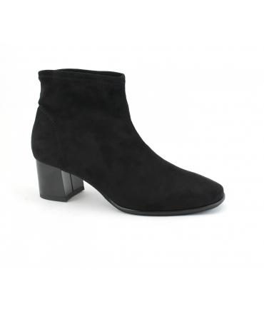 RAPISARDI MARIKA M804 Damenschuhe Röhren Stiefeletten Absatz Nubuk-Effekt vegane Schuhe
