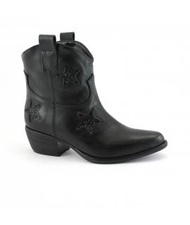 VSI Shoes Femme bottines texanes chaussures à talons végétaliens Fabriqué en Italie