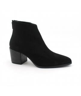 VSI Chaussures Femme Bottines en microfibre avec effet Nubuck et chaussures à talons vegan Fabriqué en Italie