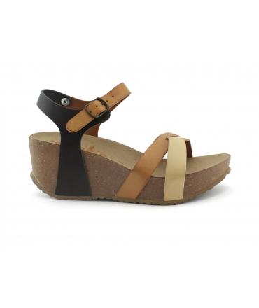 VEGAN BIO Acacia Scarpe sandali Donna zeppe incrocio fibbia vegan shoes