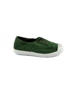 CIENTA verde scarpe Bambino elastico tessuto slip on