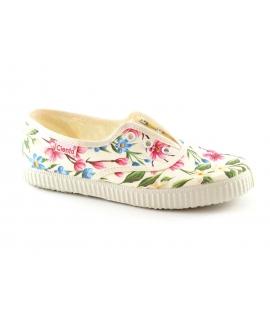 CIENTA scarpe Bambina elastico tessuto floreale slip on