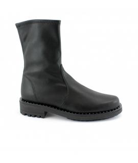 RAPISARDI MARIKA MA2302 scarpe Donna scarponcino biker tubolare borchie vegan shoes
