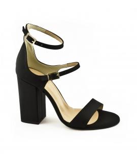 VSI Scarpe Donna Sandali tessuto tacco cinturini fibbie vegan shoes Made in Italy