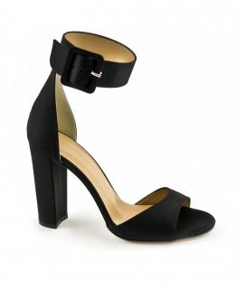VSI Scarpe Donna Sandali tessuto tacco cinturino fibbia vegan shoes Made in Italy