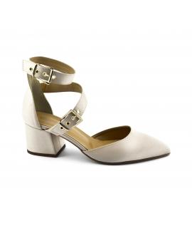 VSI Scarpe Donna Sandali tessuto tacco cinturino fibbie vegan shoes Made in Italy