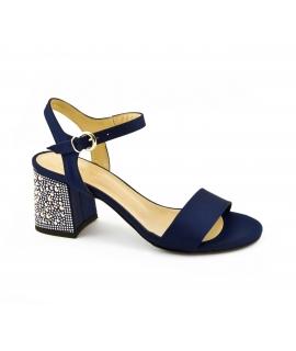 VSI Scarpe Donna Sandali tessuto tacco strass cinturino fibbia vegan shoes Made in Italy
