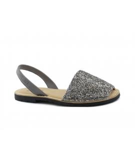 RIA scarpe donna glitter minorchine sottopiede imbottito vegan shoes
