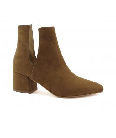 VSI Scarpe Donna Stivaletti microfibra effetto nabuk tacco vegan shoes Made in Italy