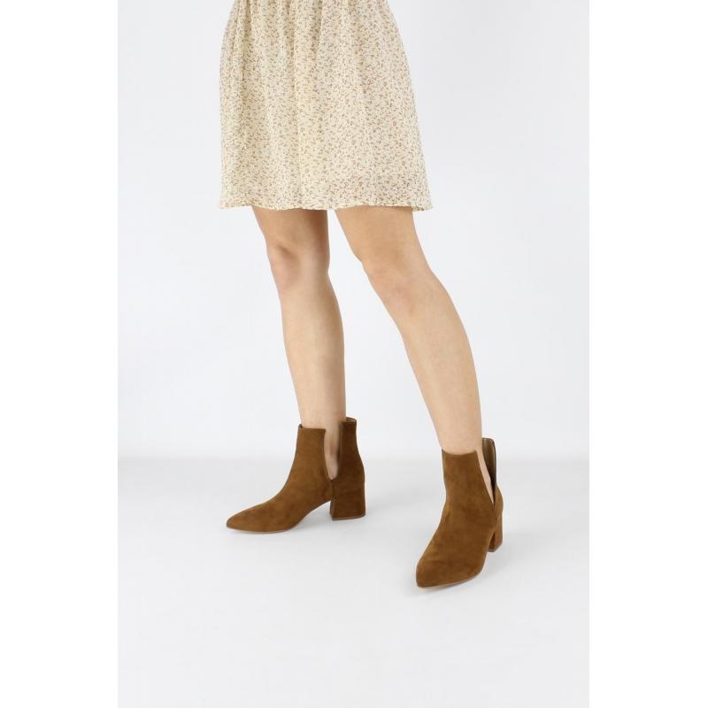 42f3efddc5c210 VSI Damenschuhe Mikrofaser-Ankle-Boots aus Nubukleder-Effekt vegane Schuhe  Made in Italy. Tap to expand