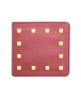 NUUWAI Erika Rivets portafoglio Donna zip borchie Apple skin vegan