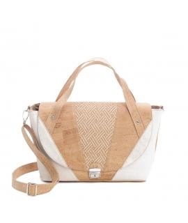 ARTELUSA Bag cork woman details raffia intertwining vegan waterproof adjustable shoulder strap