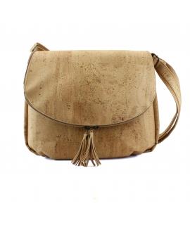 ARTELUSA Bag cork woman adjustable shoulder strap waterproof magnetic closure and vegan zipper