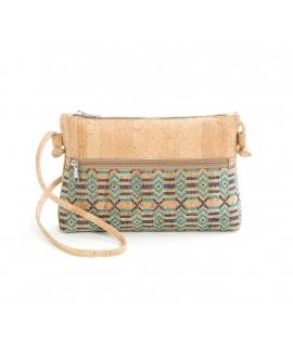 ARTELUSA Woman cork bag fantasy vegan waterproof zip shoulder strap