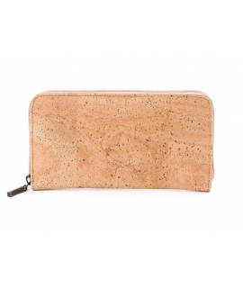 Woman wallet cork vegan zip closure