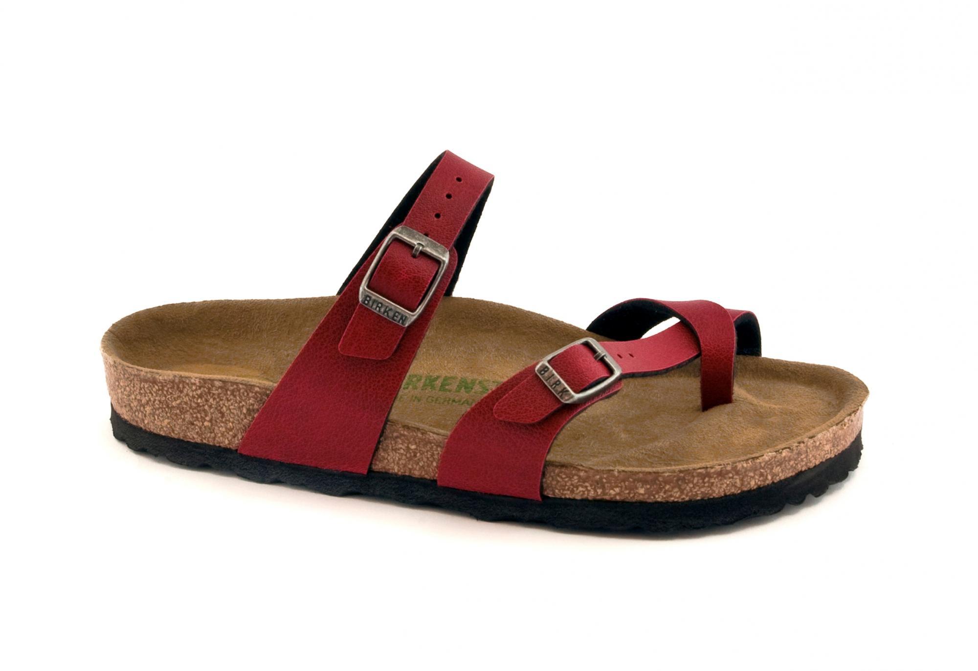 b76d121db1d123 BIRKENSTOCK Mayari Hausschuhe Frauen Flip-Flops vegane Schuhe Schnallen -  VeganShoes.it