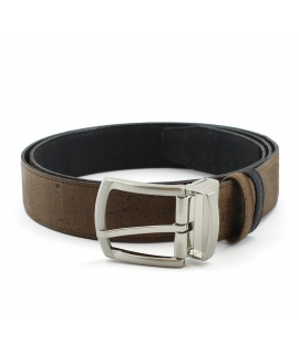 ARTELUSA Men's belt cork double-face vegan buckle