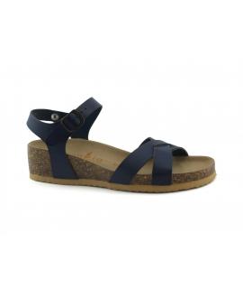 VEGAN BIO Zapatos Camelia sandalias Cuñas de mujer cruzando zapatos veganos con hebilla