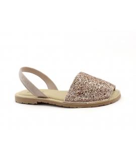 RIA Damenschuhe glitzern mit Minorchine Einlegesohle gepolsterte vegane Schuhe