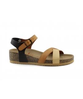 VEGAN BIO Camelia Shoes Sandalen Frauenkeile mit Kreuzschnalle und veganen Schuhen
