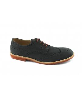 FERA LIBENS Zapato Derby para hombre Cordones de gamuza de microfibra Vibram Sole Made in Italy