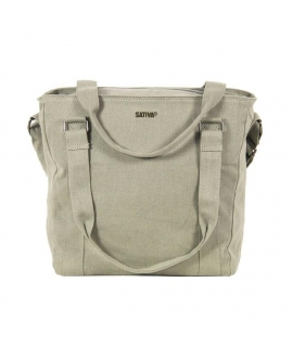 Shoulder bag Woman hemp zip closure vegan handles