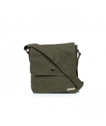 SATIVA Shoulder Bag Unisex adjustable hemp vegan automatic button