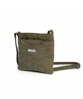 SATIVA Shoulder Bag Unisex hemp adjustable vegan zip closure