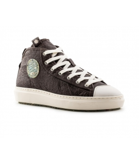 ZOURI Esox Pinatex Schuhe Unisex Mid Sneakers wasserdichte Schnürsenkel vegane Schuhe