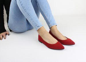 ballerine donna rosse fera libens vegan shoes italy