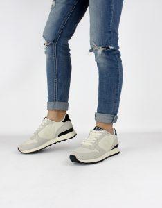 scarpe donna sneakers riciclate vegane ecoalf crema