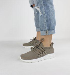 scarpe donna sneakers riciclate ecoalf crema indossate veganshoesit